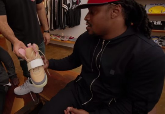 Marshawn Lynch Goes Beast Mode At A Sneaker Store