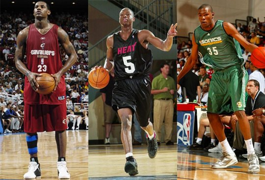 NBA Goes #TBT With LeBron, Wade, KD, And More In Summer League