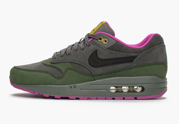 sale retailer 515a8 bafd6 Ditching the usual mesh-based construction thats the ideal version of the  shoe for the summer heat, the Nike Air Max 1 goes all-leather to prepare  for the ...