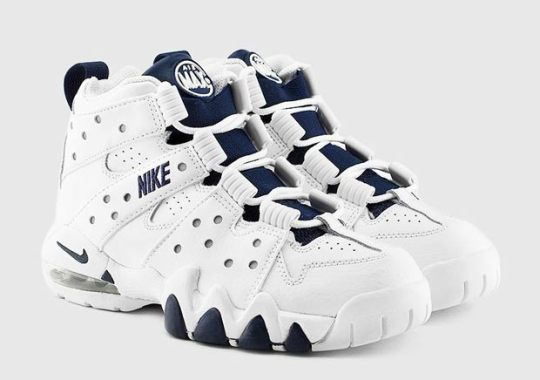 promo code c6fc7 cd496 Nike Air Max2 CB  94 GS – White – Metallic Silver – Midnight Navy