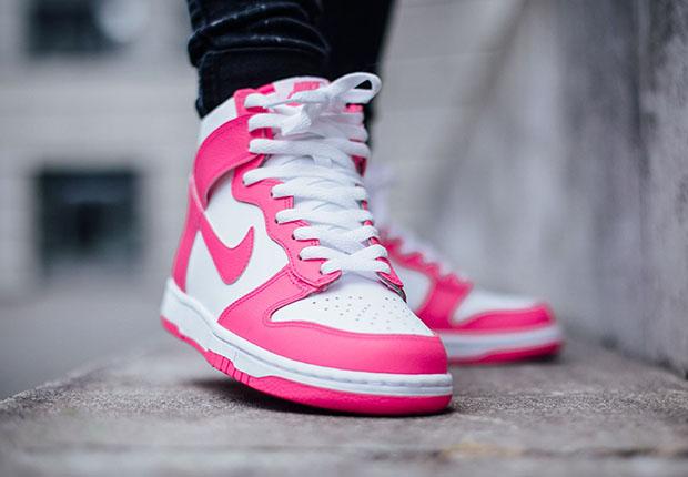free shipping df148 4a5c3 ... buy new c6de5 cea45 nike dunk pink grey womens nike dunk 6.0 hi tops  pink grey
