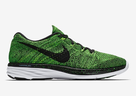 "Nike Flyknit Lunar 3 ""Electric Green"""