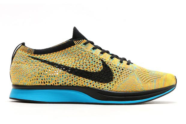 1cf0ea59eec11 ... free shipping nike flyknit racer sherbert color bright citrus blue  lagoon laser orange black style code