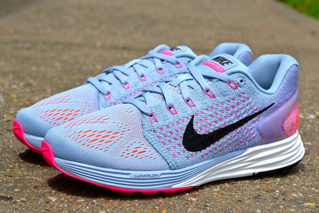 brand new afddb 9f7d1 Nike WMNS LunarGlide 7. Color  Light Armory Blue Black-Bright Citrus Price    125