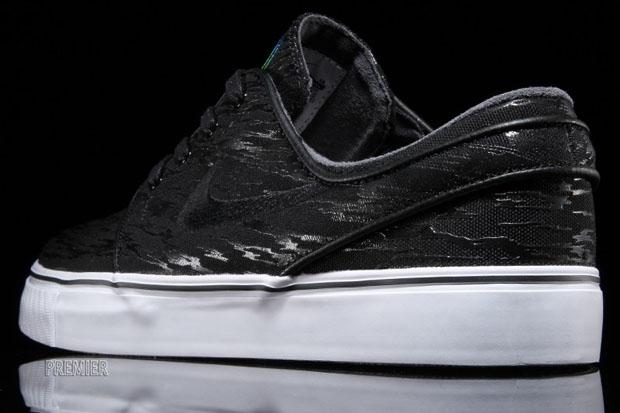 "Civilist x Nike SB Stephen Janoski ""River Spree"" Color:  Black/Multi-Color-White Style Code: 678472-001. Release Date: July 18th,  2015. Price: $90"