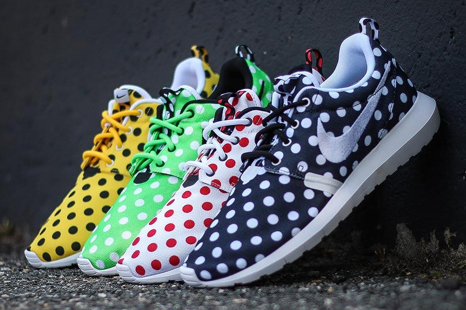 Polka Dot Nike Roshes In Four Colors