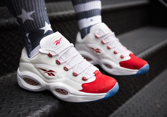 The Reebok Question Low's OG White/Red Colorway Launches Tomorrow