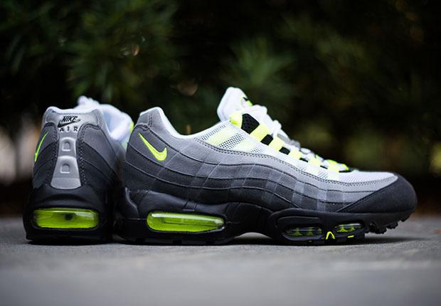 "big sale 4e516 f9428 Nike Air Max 95 ""Neon"" Color  Black Volt-Medium Ash-Dark Pewter Style Code   554970-071. Release Date  07 25 15. Price   165"