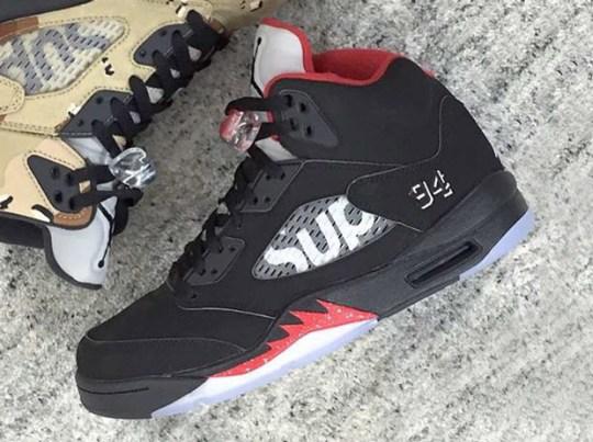 """Supreme x Air Jordan 5 """"Bred"""""""