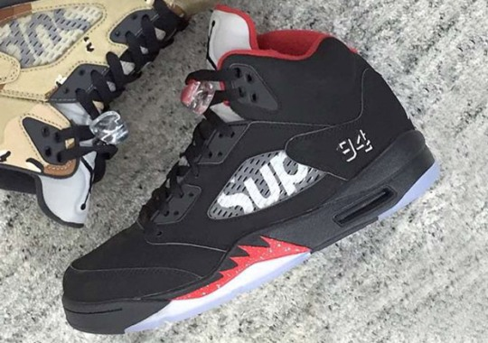 "Supreme x Air Jordan 5 ""Bred"""