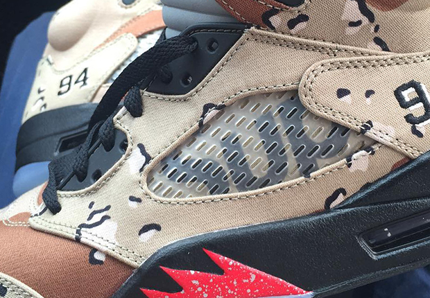hot sale online 37f67 232ae The Details That Make Up The Supreme x Air Jordan 5