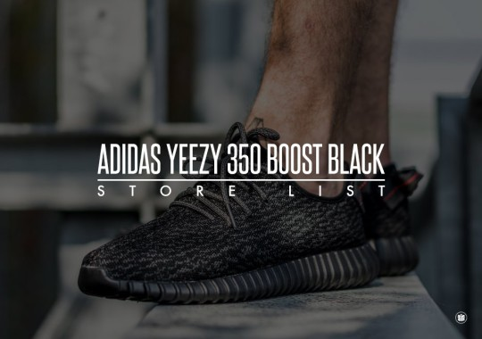 "Full Store List For adidas Yeezy 350 Boost ""Black"""