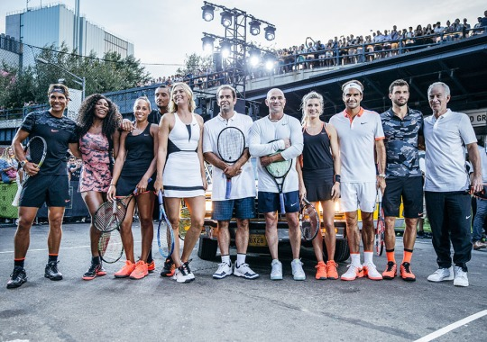 Andre Agassi and Pete Sampras Re-kindle Their Rivalry As Nike Takes Over NYC