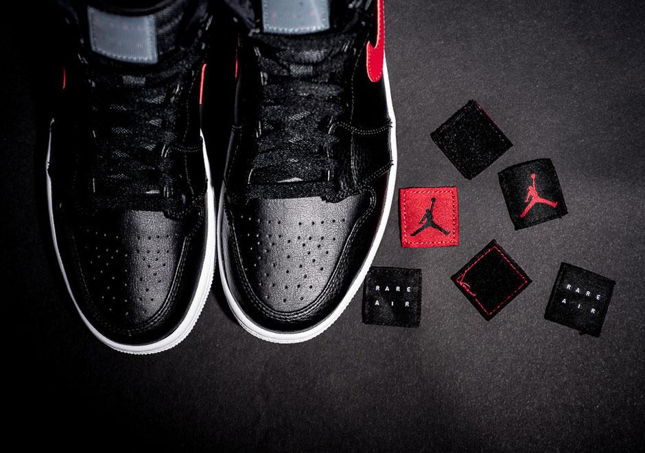 """low priced d5a41 cbcc6 A Closer Look At The Air Jordan 1 Rare Air """"Bred"""""""