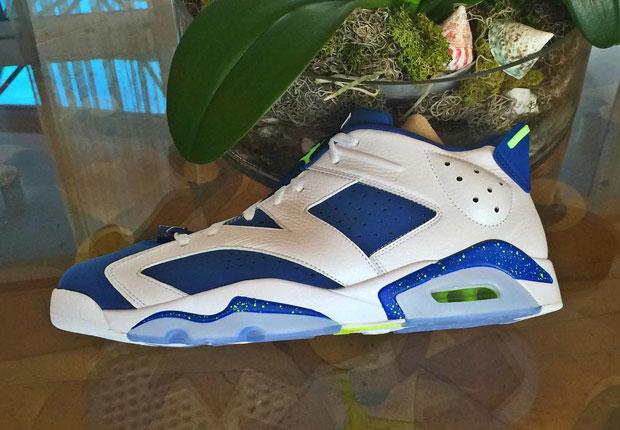 Air Jordan 6 Retro Low White Green Blue