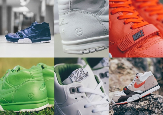 NikeLab Is Releasing All Six Pairs Of The fragment design x Air Trainer 1 Tomorrow