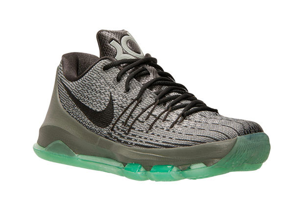 sports shoes 54299 5d4c9 ... coupon for nike kd 8. color night silver deep pewter tumbled grey green  glow style