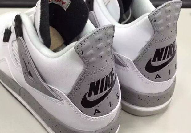 a06ed57552ed ... germany first look at the air jordan 4 white cement with nike air  sneakernews 3ac2b 7aa96