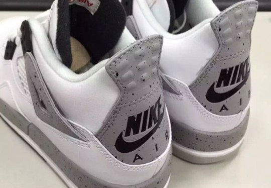 """First Look At The Air Jordan 4 """"White/Cement"""" With Nike Air"""