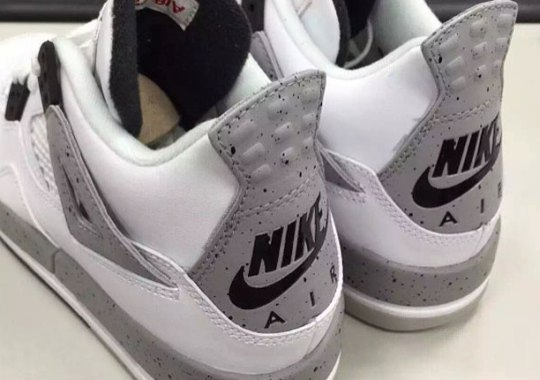 "First Look At The Air Jordan 4 ""White/Cement"" With Nike Air"