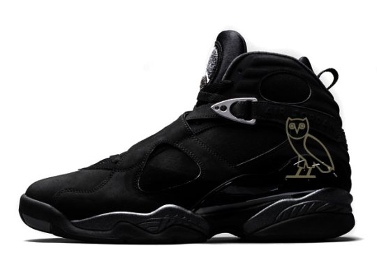 """Drake's Big Week Continues With The Debut Of The Air Jordan 8 """"OVO"""""""