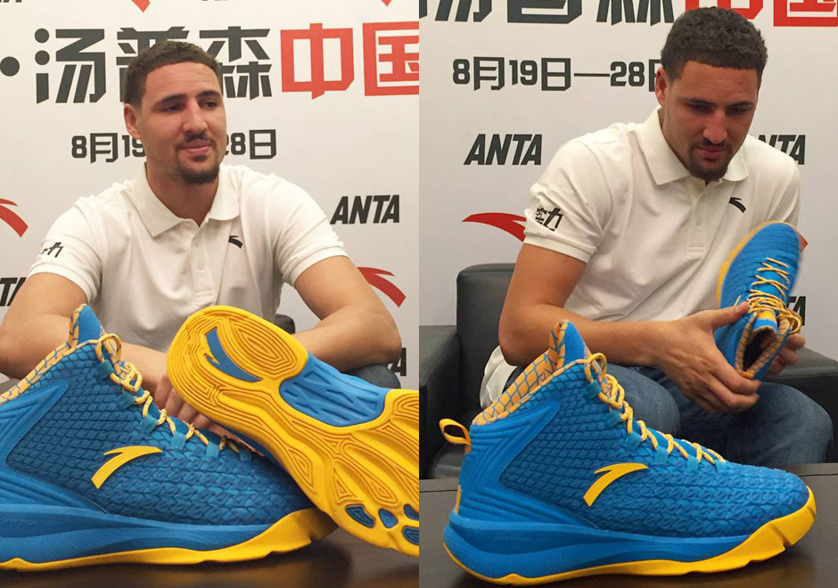 Klay Thompson Unveils ANTA Signature Shoe, Appears To Be Holding Back Tears Of Regret