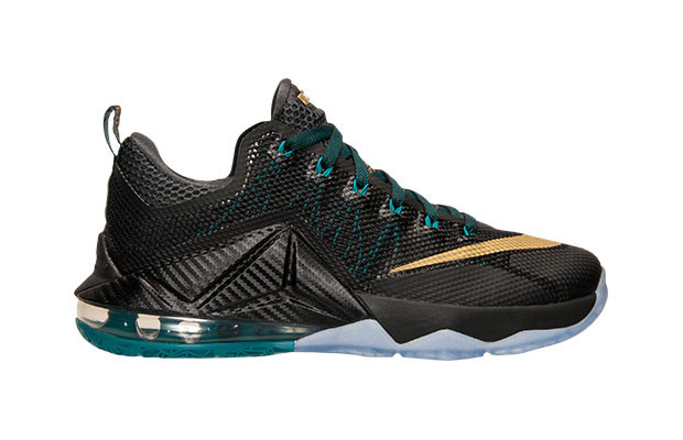 new product f303e a59fa Nike LeBron 12 Low. Color  Black Metallic Gold-Anthracite-Radiant Emerald  Style Code  724557-070. Release Date  September 3rd, 2015. Price   175
