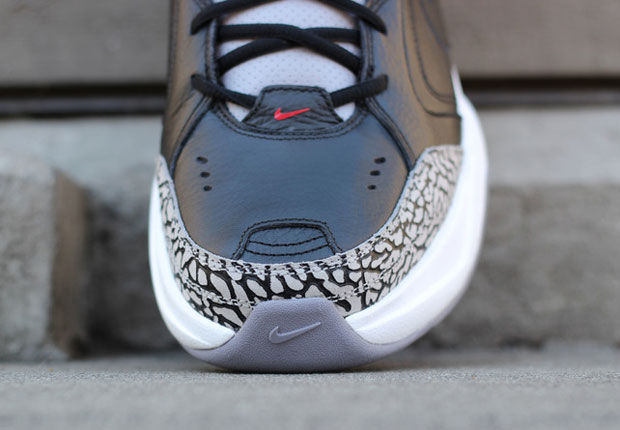 """The Nike Air Monarch In """"Black/Cement"""" Is The Best Sneaker You'll See All Day - SneakerNews.com"""
