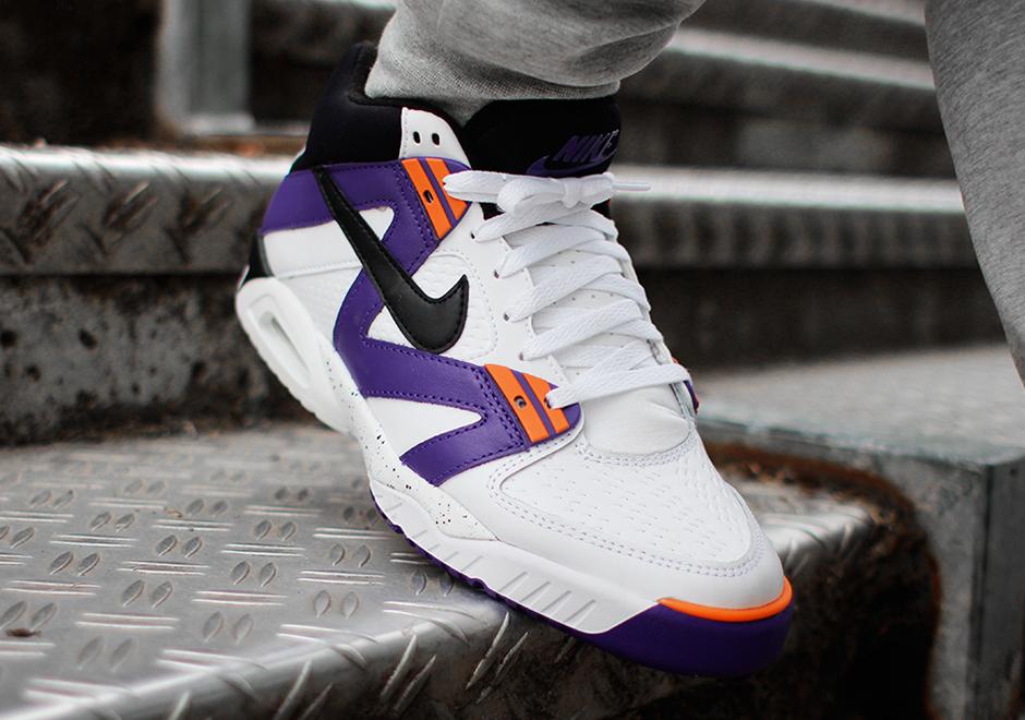6417ec852570 Nike Air Tech Challenge III OG. Color  White Black-Voltage Purple-Bright  Mandarin