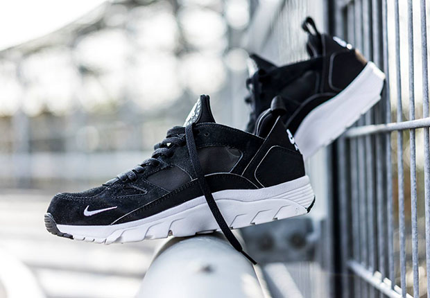 nike huarache trainer low grise