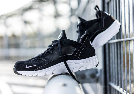 The Nike Air Trainer Huarache Low in Clean Black and White
