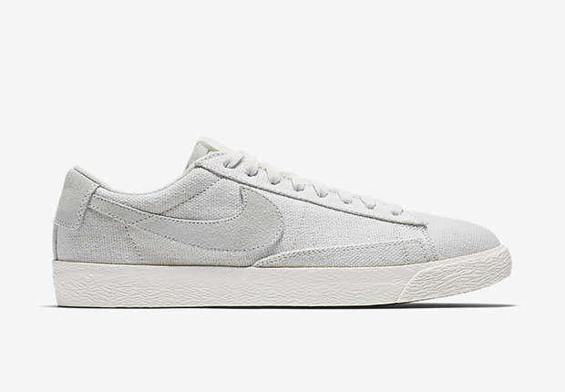white nike blazers low tops