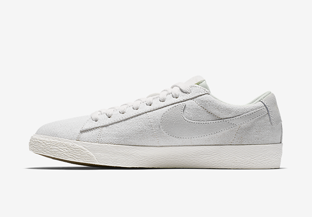 """The result is a sneaker that looks more like a tennis shoe than the  original basketball design. The Blazer Low PRM """"Sail"""" will be arriving at  Nike ... a6bb6c32c759"""
