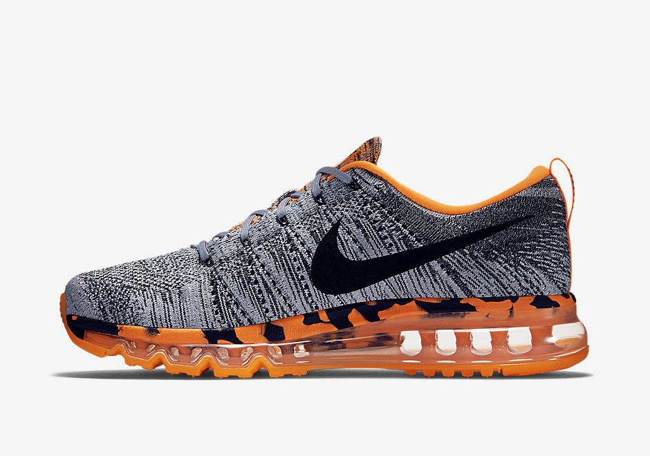 be6e3c6d62d Nike Flyknit Air Max Premium - Wolf Grey - Total Orange ...