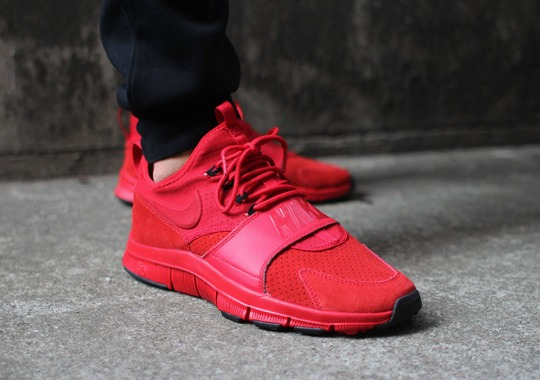 The Nike Free Ace Leather In All Red