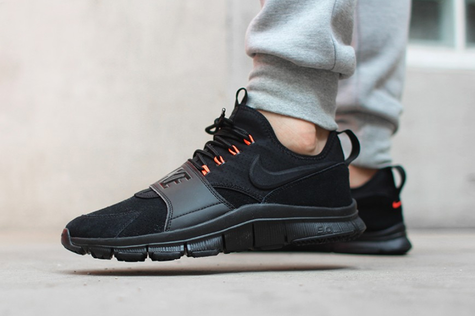 Buy Nike Free Ace Leather Black/Black-Hyper Orange