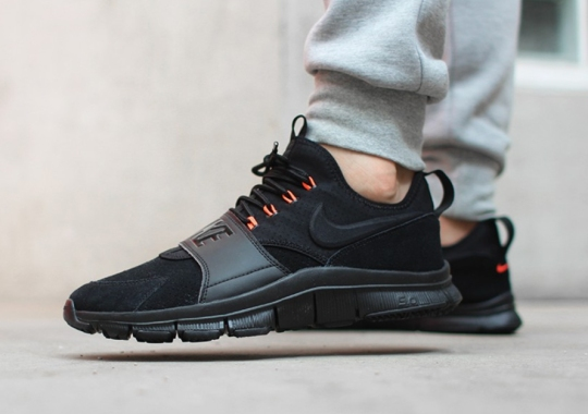 Nike Free Ace Leather With Hints Of Hyper Orange