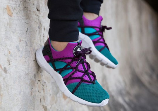 The Nike Huarache NM In Bold Berry And Emerald