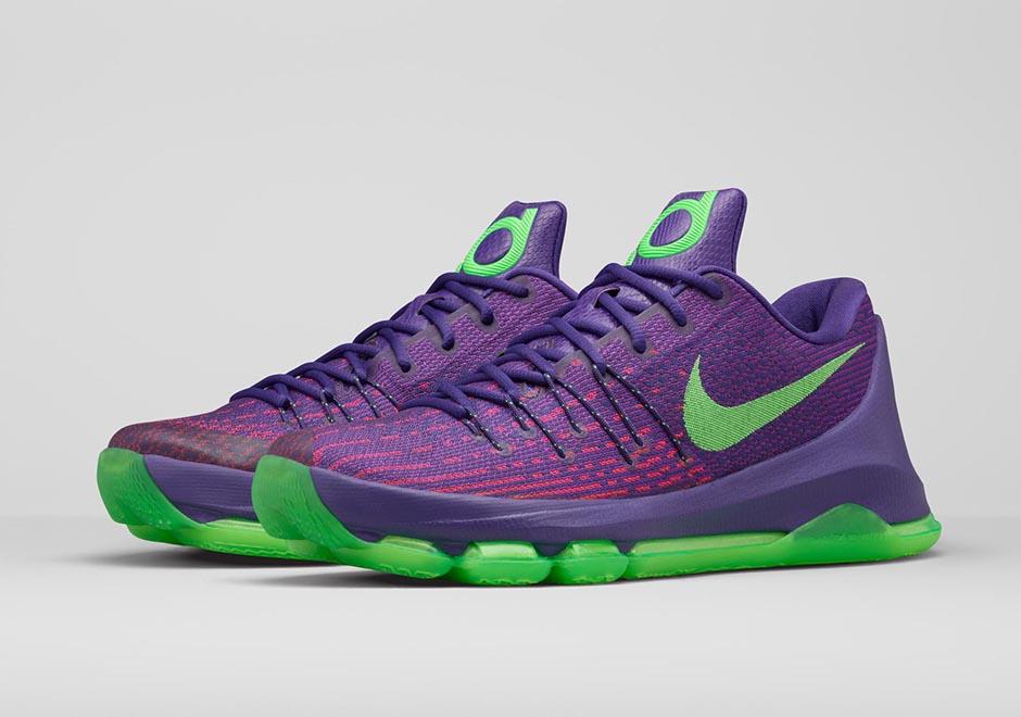 "half off 69042 4c322 Nike KD 8 ""Suit"". Color  Court Purple Green Strike-Vivid ..."
