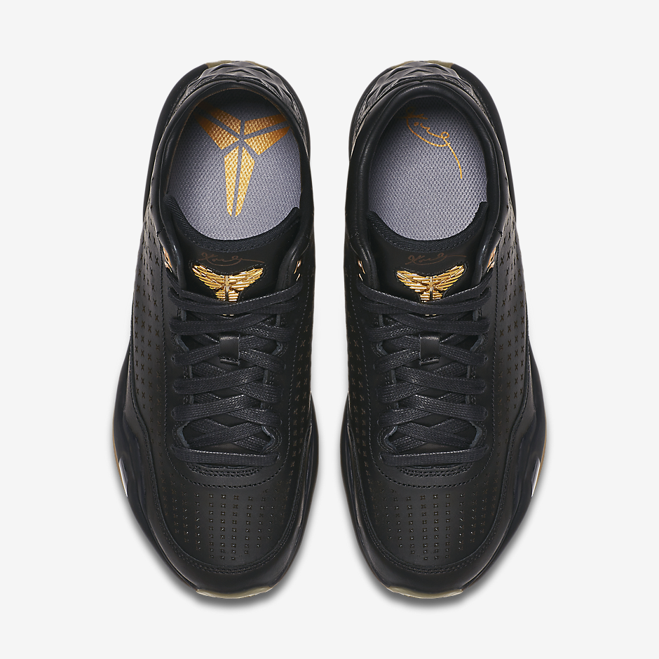 Golden eyelets and Kobe logos are then accompanied by the gum rubber  outsole below. The sleek and stylish Kobe 10 EXT Black Gum will be dropping  soon. 8e36d14cfaa9
