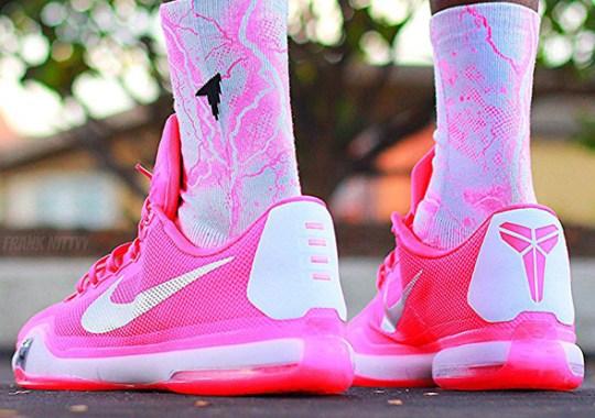 "uk availability 51a81 88504 Nike Kobe 10 ""Think Pink"" PE"
