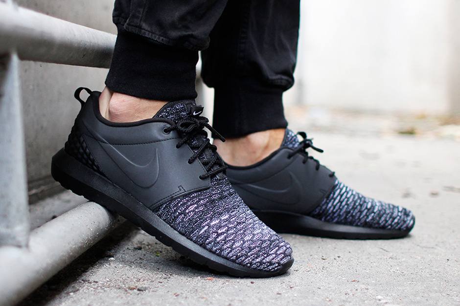 online store 2e35a ff3df Nike Roshe Run NM Flyknit PRM. Color  Black Black-Dark Grey-White Style Code   ...