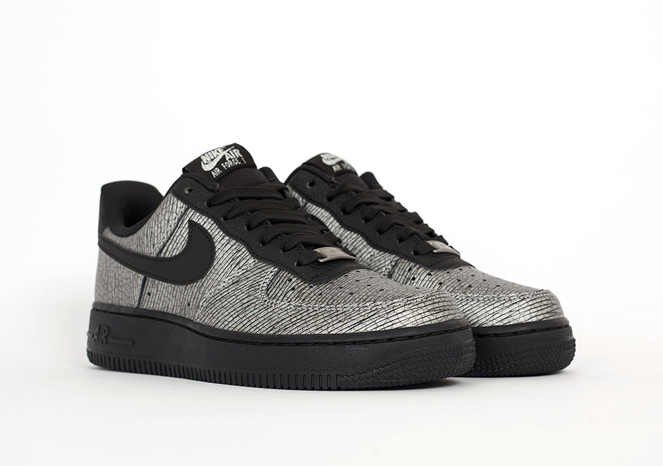 nike air force 1 black and silver