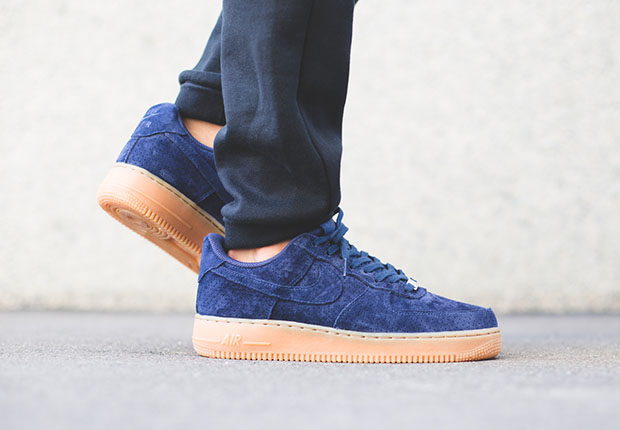 nike air force 1 suede blue womens tops