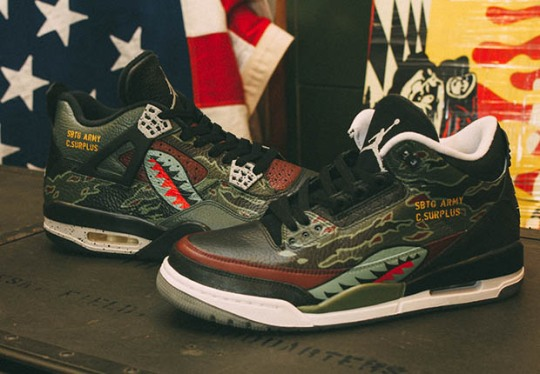 Legendary Sneaker Customizer SBTG Is Back With The Air Jordan 3 and 4