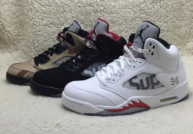 06778fce5e86 The Complete Supreme x Air Jordan 5 Set - SneakerNews.com