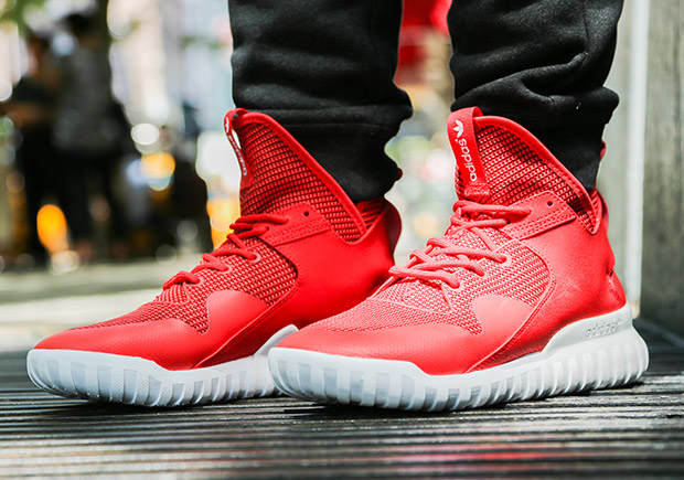 Adidas Tubular X Youth US 7 Red Basketball Shoe