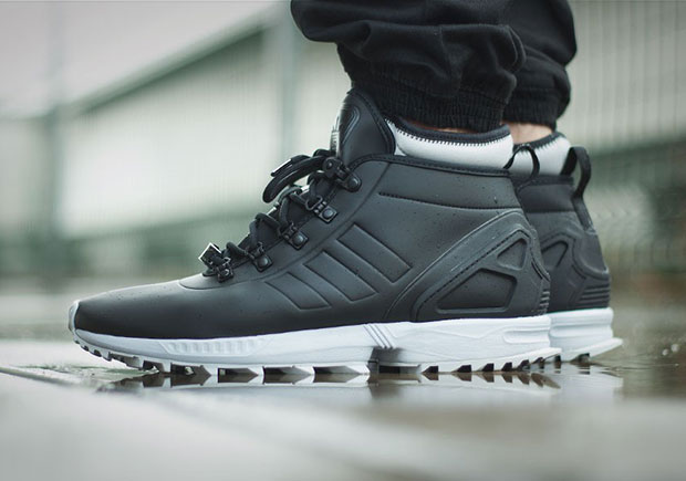 the adidas zx flux is ready for winter black white. Black Bedroom Furniture Sets. Home Design Ideas