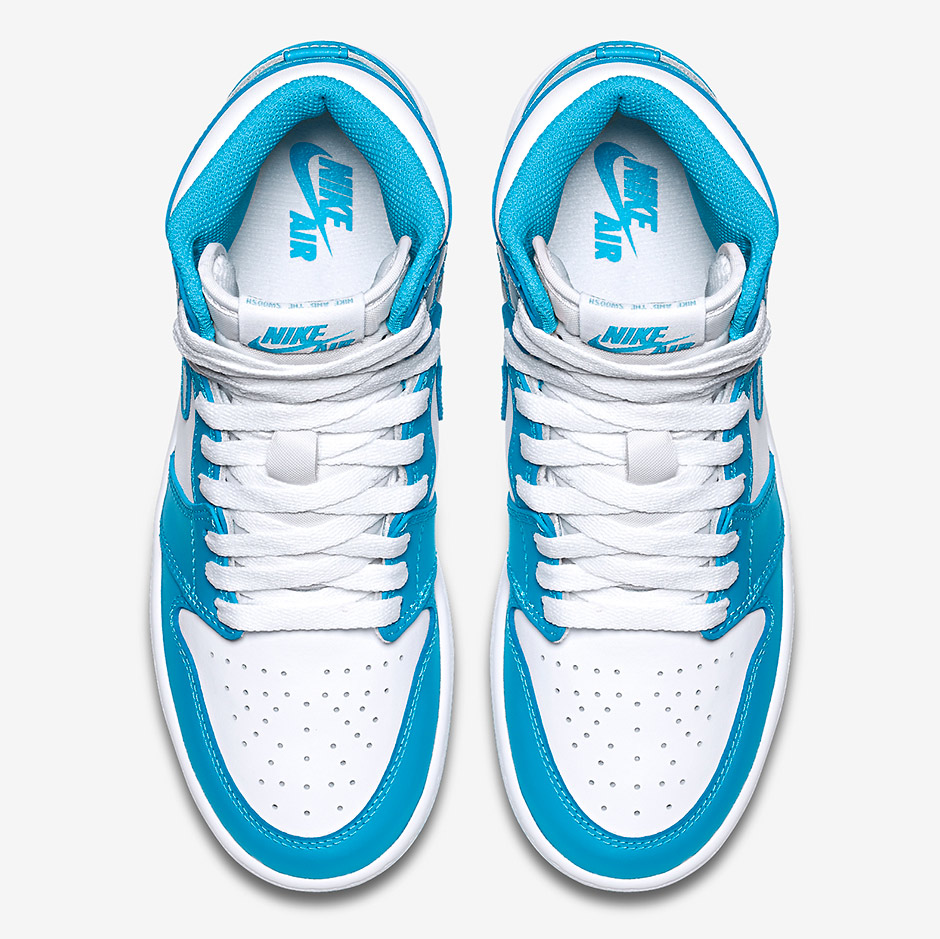 "79143f796667 Air Jordan 1 Retro High OG GS ""UNC"" Color  White Dark Powder Blue Style  Code  575441-117. Release Date  10 10 15. Price   120"