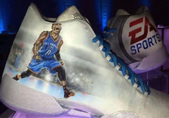 EA Sports Celebrates NBA Live '16 With An Air Jordan Custom By Mache